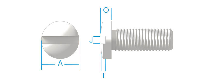 Fillister Slotted Machine Screws