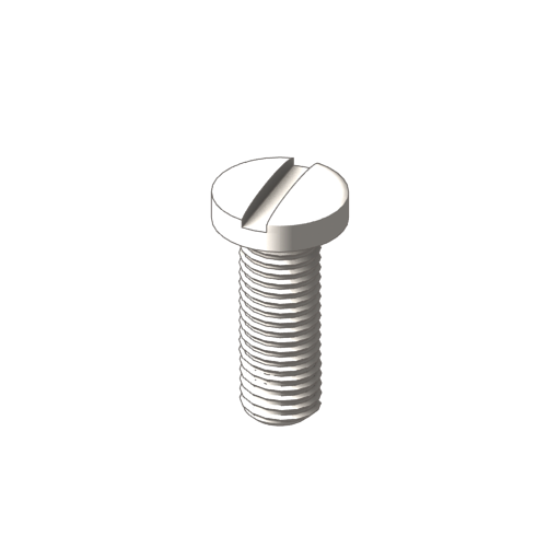 titanium fillister slotted screws
