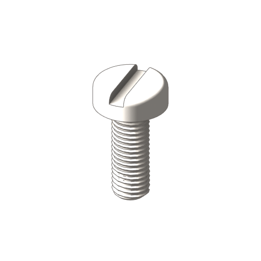 titanium pan slotted machine screws