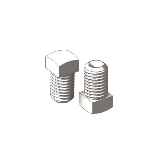 titanium square socket head cup point screws